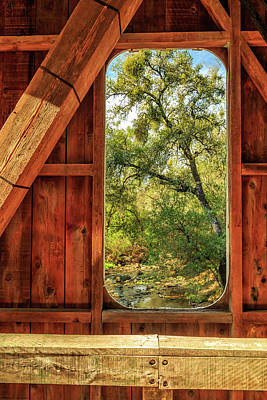 Poster featuring the photograph Covered Bridge Window by James Eddy