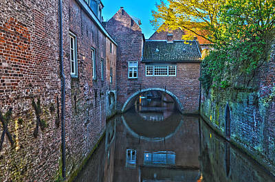 Covered Canal In Den Bosch Poster by Frans Blok