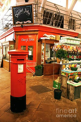 Covered Market Post Box Oxford Poster