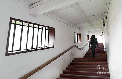 Covered Stairs Leading To Franciscan Monastery Poster
