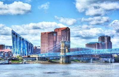 Covington Kentucky Skyline Poster by Mel Steinhauer