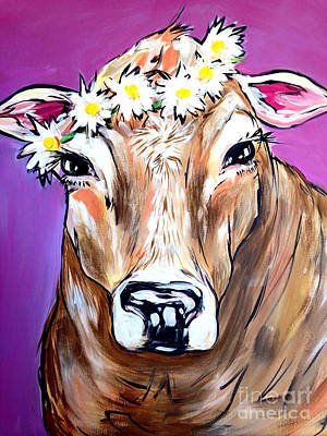 Cow Poster by Abbi Kay