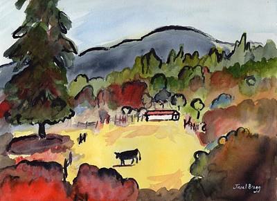 Cow On The Way To Alger Poster by Janel Bragg