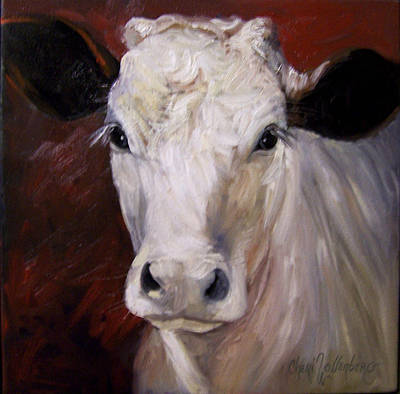 Cow Painting Of Charlene Poster by Cheri Wollenberg