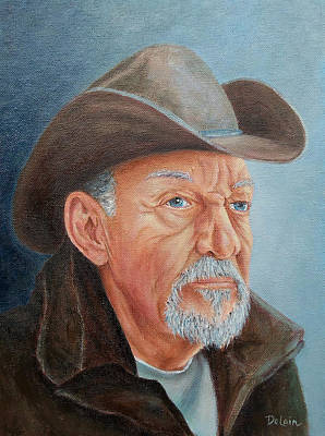 Poster featuring the painting Cowboy Bob by Susan DeLain