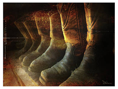 Cowboy Boots Poster by Peggy Dietz