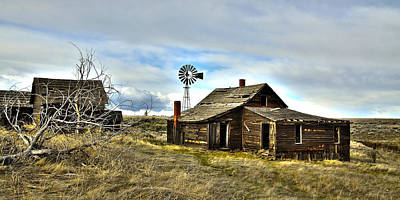 Cowboy Cabin Poster