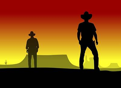 Cowboy Duel Poster by Nestor PS