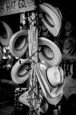 Poster featuring the photograph Cowboy Hats At Snail Creek Hat Company by David Morefield