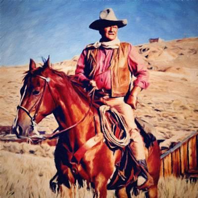 Cowboy John Wayne Poster