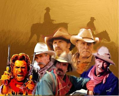 cowboy Legends Of The Past Poster