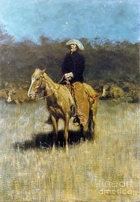 Cowboy Singing Poster by Granger
