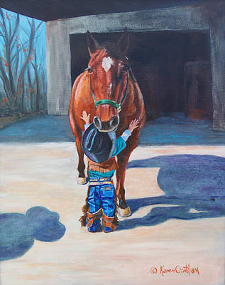 Cowboy's First Love Poster by Karen Kennedy Chatham