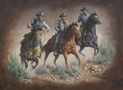 Cowboys Of Star Trek Poster by Kim Lockman