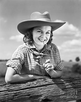 Cowgirl, C.1940s Poster