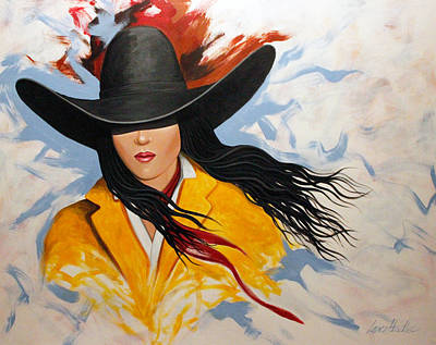 Poster featuring the painting Cowgirl Colors #3 by Lance Headlee