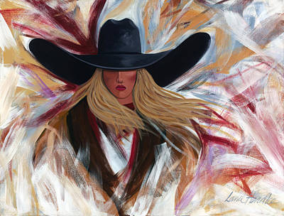Poster featuring the painting Cowgirl Colors by Lance Headlee