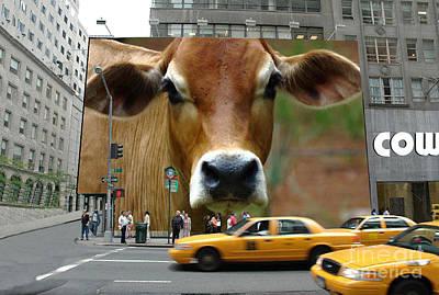 Cowhouse Street Art 02 Poster by Geordie Gardiner