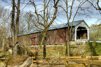 Cox Ford Covered Bridge Poster
