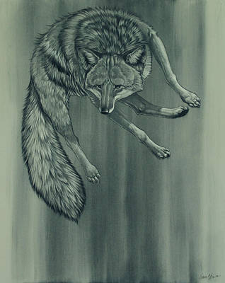 Poster featuring the digital art Coyote by Aaron Blaise