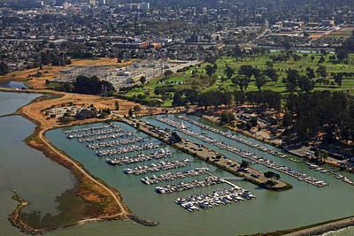 Coyote Point Marina San Francisco Bay Sfo California Poster by Toby McGuire