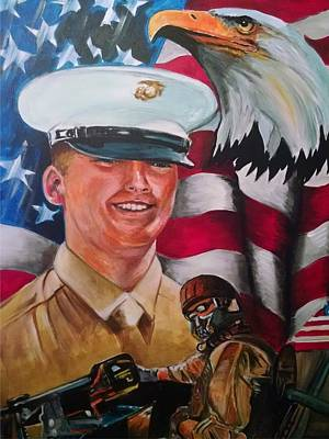 Cpl. Drown Poster by Ken Pridgeon