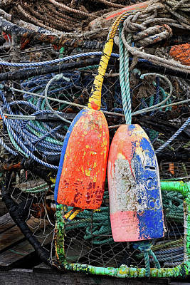 Crab Pots And Buoys Poster