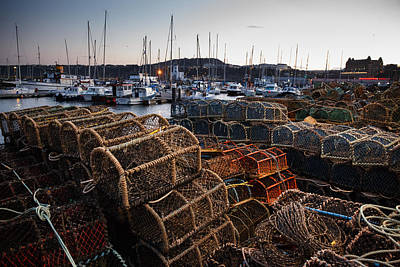 Poster featuring the photograph Crab Pots by Paul Indigo