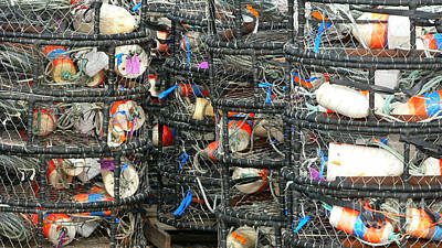 Poster featuring the photograph Crab Traps by Larry Keahey