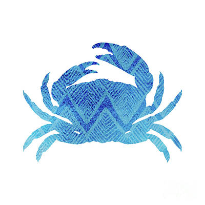 Crab, Tropical Caribbean Blue Crab Poster by Tina Lavoie
