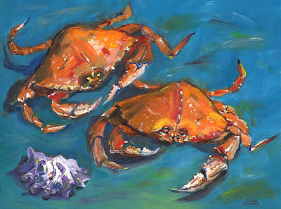 Poster featuring the painting Crabs by Susan Thomas