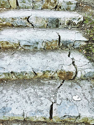 Cracked Stone Steps Poster by Tom Gowanlock