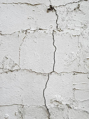 Cracked Wall Poster