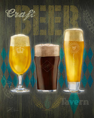 Craft Beer Poster by Shari Warren
