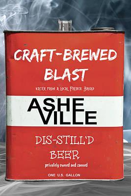 Craft Brewed Blast Beer Poster by John Haldane