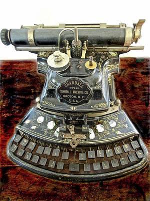 Crandall Type Writer 1893 Poster