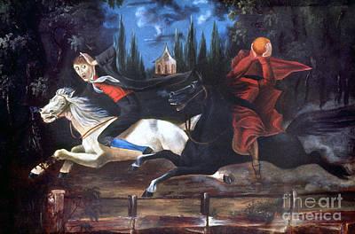 Crane And Horseman Poster