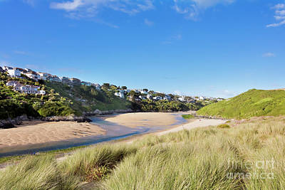 Crantock And The Gannel Poster by Terri Waters