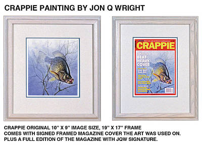 Crappie Magazine And Original Poster by Jon Q Wright