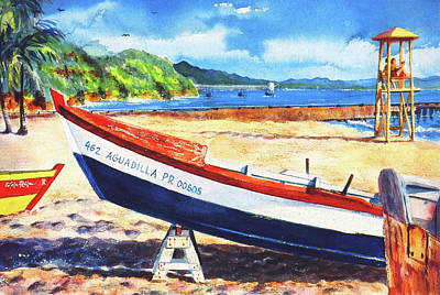 Crash Boat Beach Poster by Estela Robles