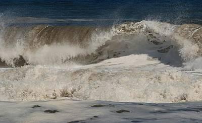 Crashing - Jersey Shore Poster by Angie Tirado