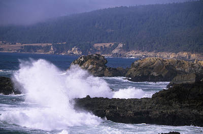 Crashing Surf - Salt Point Poster by Soli Deo Gloria Wilderness And Wildlife Photography