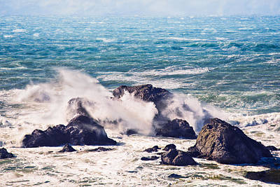 Poster featuring the photograph Crashing Waves by Kim Wilson