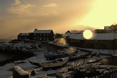 Craster Harbour In Winter 2 Poster