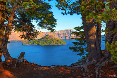 Crater Lake Early Dawn Scenic Views Ix Poster