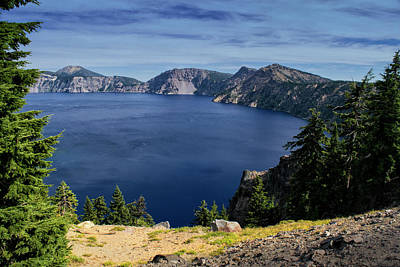 Poster featuring the photograph Crater Lake View by Frank Wilson