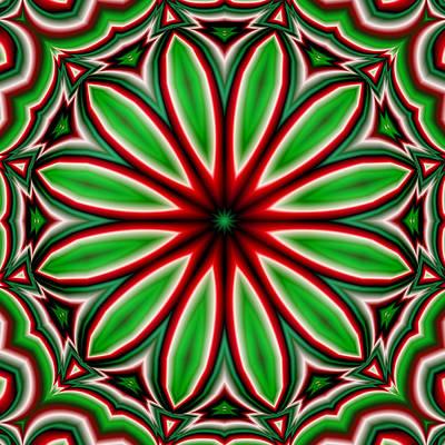 Crazy Christmas Flower Poster