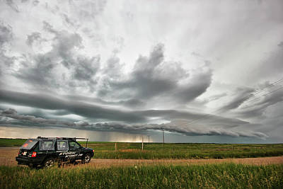 Crazy Shelf Cloud Near Ponteix Sk. Poster