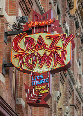 Poster featuring the photograph Crazy Town by Stephen Stookey