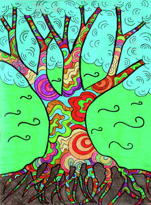 Crazy Tree In Color Poster
